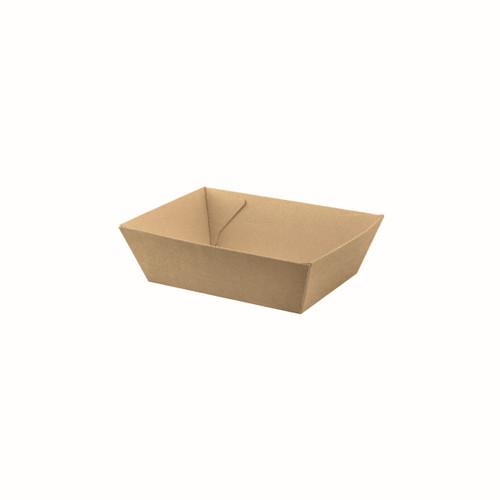 Food Tray #1 (Corrugated) - Brown Kraft - 130x91x50mm