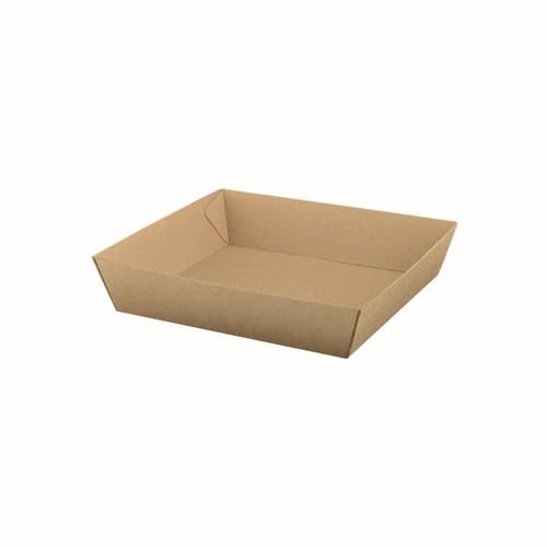 Food Tray #2 (Corrugated) - Brown Kraft - 178x178x45m