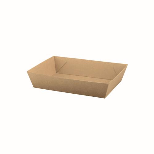 Food Tray #3 (Corrugated) - Brown Kraft - [ABT3] - 180x134x45mm