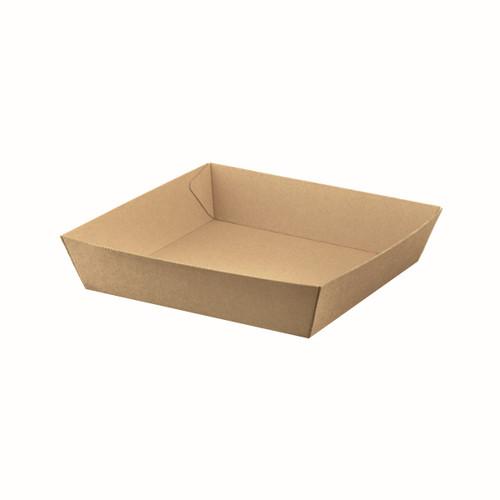 Food Tray #4 (Corrugated) - Brown Kraft - 225x152x45