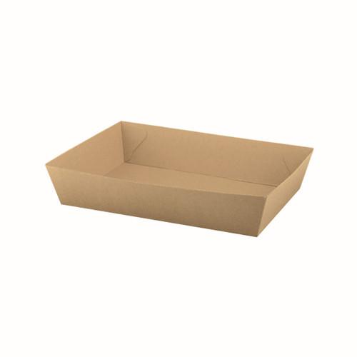 Food Tray #5 (Corrugated) - Brown Kraft - 252x179x58mm