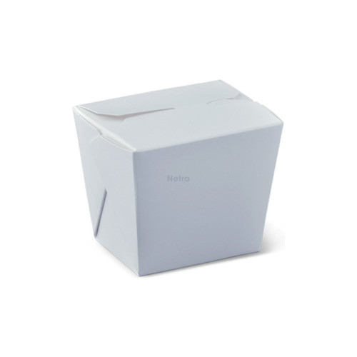 Noodle Box Square - White 8oz (240ml) - NO HANDLE