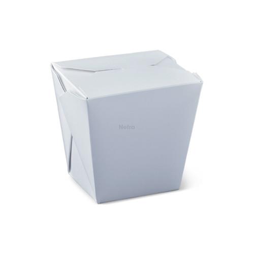 Noodle Box Square - White 16oz (477ml) - NO HANDLE