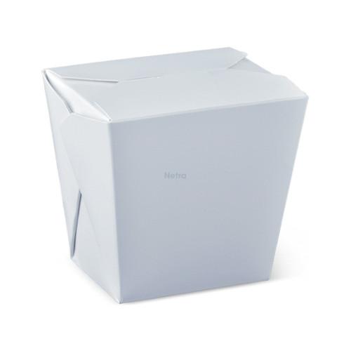 Noodle Box Square - White 26oz (755ml) - NO HANDLE - [L100S0001] - DETPAK 79x66x103mm - 450/CTN