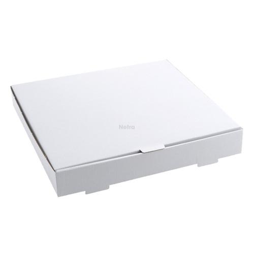 "Pizza Box - WHITE Plain 18"" - Double Fold"