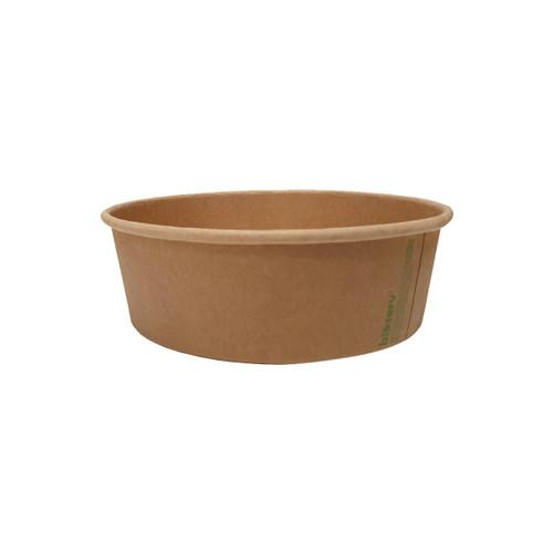 Salad Bowl 16oz - Brown Kraft (PLA) - Large - BIOSERV - 150x128x45mm