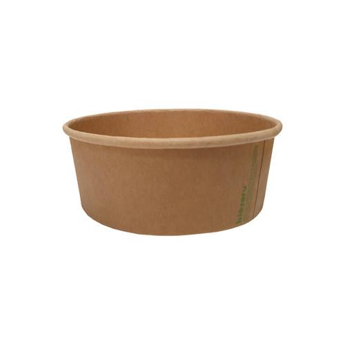 Salad Bowl 25oz - Brown Kraft (PLA) - Small - BIOSERV - 150x128x60mm