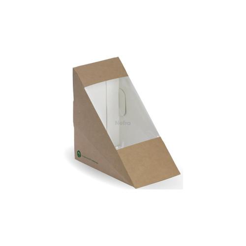 Sandwich Wedge (BioBoard) Plain [BB-SW-MEDIUM2] - BIOPAK