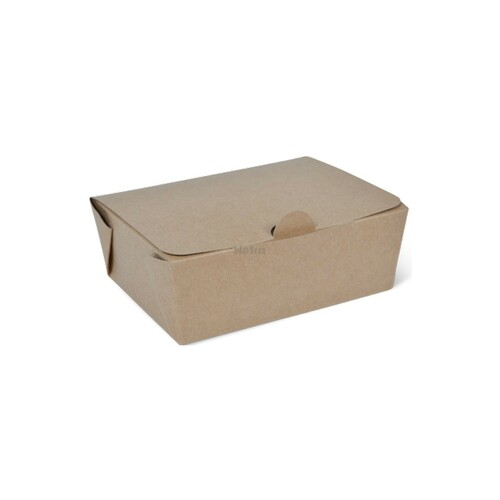 Takeaway Box (Brown Kraft) - SMALL (600ml) - DETPAK