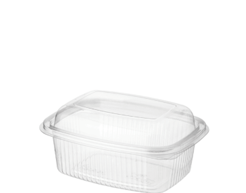 BETTASEAL (PET) - 400ml Clear Rectangular Container / Hinged Dome Lid - [CA-CFCS400]