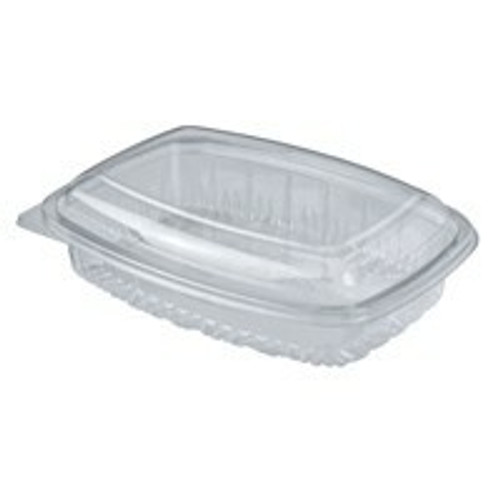 BETTASEAL (PET) - 600ml Clear Rectangular Container / Hinged Dome Lid - CA-CFCL600
