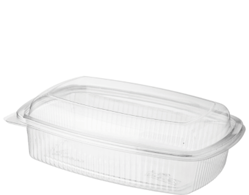 BETTASEAL (PET) - 700ml Clear Rectangular Container / Hinged Dome Lid - [CA-CFCL700]