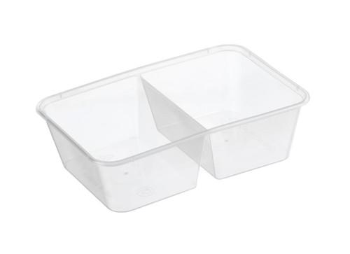 GENFAC - Rectangular Container [REG 650-2C] - 650ml Clear