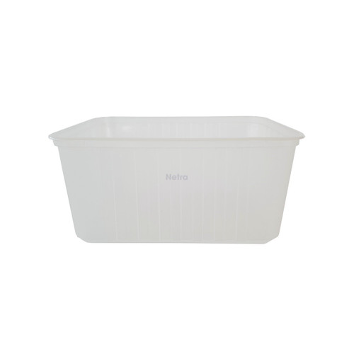 Ribbed Rectangular Container [RB1500] - 1500ml Clear (Freezer Grade)