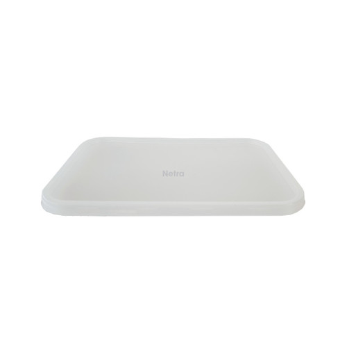 LID FLAT (Freezer Grade) -  Clear / suits Ribbed Rect. Containers
