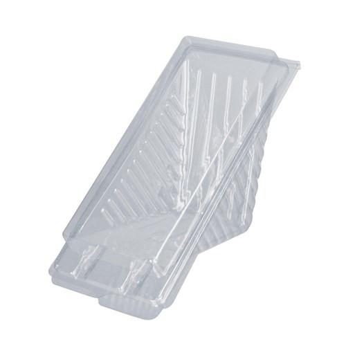 Sandwich Wedge (PET) - 2 Point Regular - Plastic Clear Hinged Lid 165x72x80mm