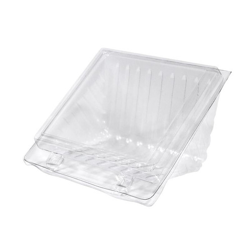Sandwich Wedge 4 Quarter Clear Hinged Lid - 60Hx125Lx110W