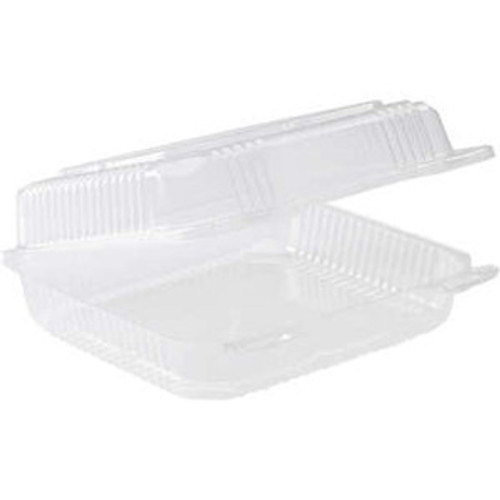 Sushi Pack (PS) - 2 Roll SMALL Clear with Hinged Lid [GST2] - 152x106x60mm