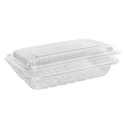 Sushi Pack (PS) - 4 Roll MEDIUM Clear with Hinged Lid [GST4] - 152x106x60mm