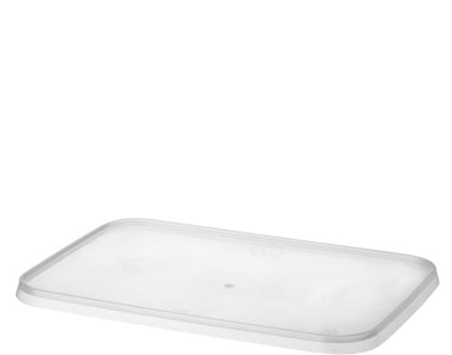 LID FLAT (PP) - LOCKSAFE - Rectangular CLEAR - [CA-LSREC-LID] - 175 x 119 mm / suits 750ml & 1000ml