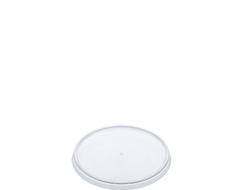 LID FLAT (PP) - LOCKSAFE - 87mm CLEAR [CA-LSS-LID] / suits 160ml-400ml SMALL Round Tamper Evident Containers