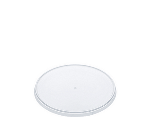 LID FLAT (PP) - LOCKSAFE - 118mm CLEAR [CA-LS-LID] / suits 300ml - 1120ml LARGE Round Tamper Evident Containers