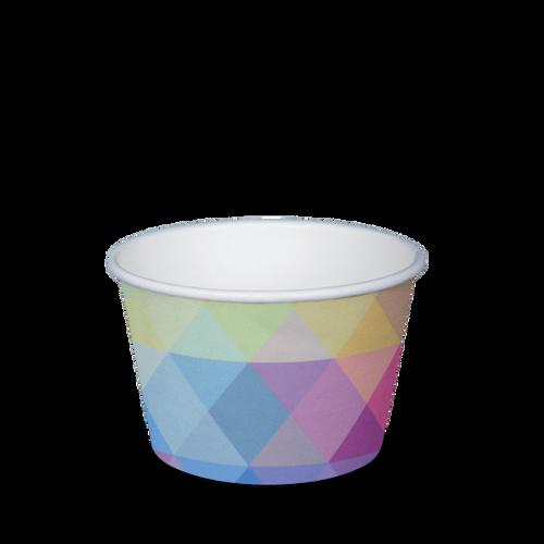 Ice Cream Cup - Paper Printed - 240ml (8oz) 3 Scoop [N825S0260]