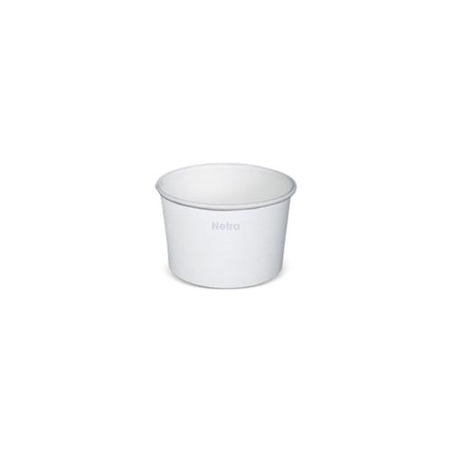 Ice Cream Cup - Paper Plain White - 90ml (3oz) 1 Scoop