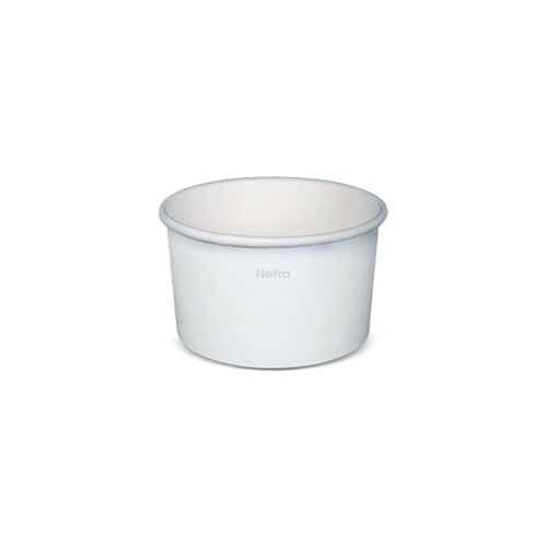 Ice Cream Cup - Paper Plain White - 150ml (5oz) 2 Scoop