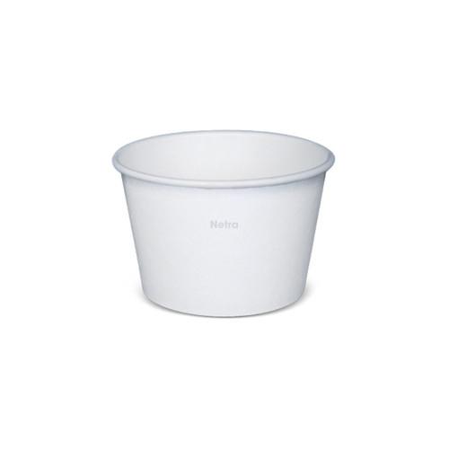 Ice Cream Cup - Paper Plain White - 240ml (8oz) 3 Scoop [N825S0001]