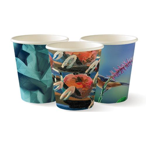 Coffee Cup (PLA) - BIOPAK - SINGLE Wall - 8oz ART Print [BC-8-ART SERIES]