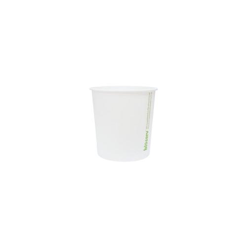 Coffee Cup (PLA) - SINGLE Wall - 4oz WHITE - BIOSERV