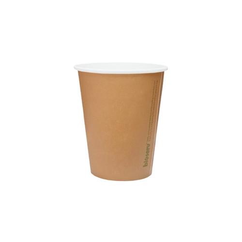 Coffee Cup (Compostable PLA) - SINGLE Wall - 8oz BROWN [BIOSERV]