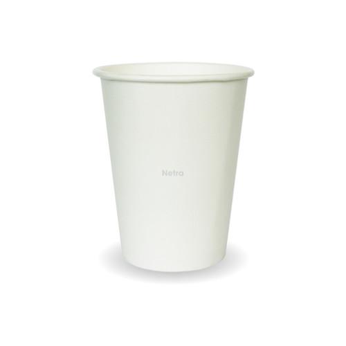 Coffee Cup (PLA) - SINGLE Wall - 12oz WHITE [PPC12S]