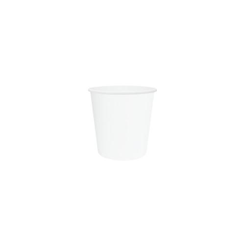 Coffee Cup (PE) - SINGLE Wall - 4oz WHITE -ONETRAY