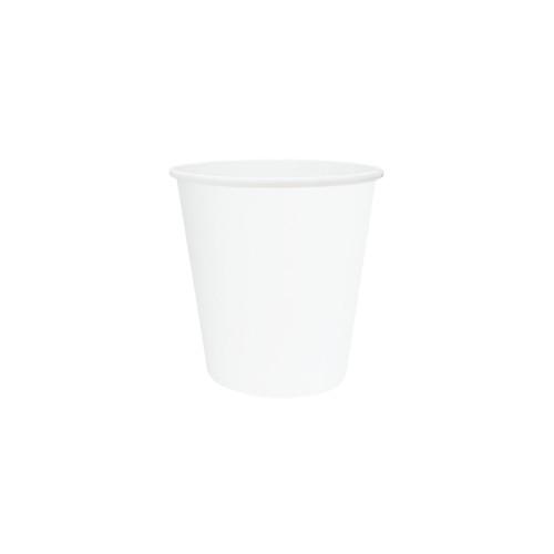 Coffee Cup (PE) - SINGLE Wall - 6oz WHITE - ONETRAY