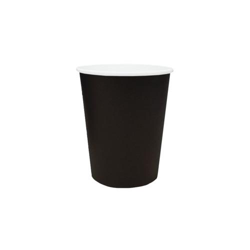 Coffee Cup (PE) - SINGLE Wall - 8oz BLACK - ONETRAY