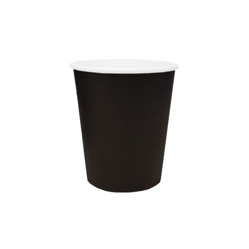 Coffee Cup - SINGLE Wall - 8oz (SQUAT) BLACK - ONETRAY