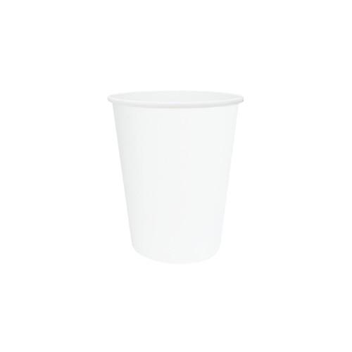 Coffee Cup (PE) - SINGLE Wall - 8oz WHITE - ONETRAY