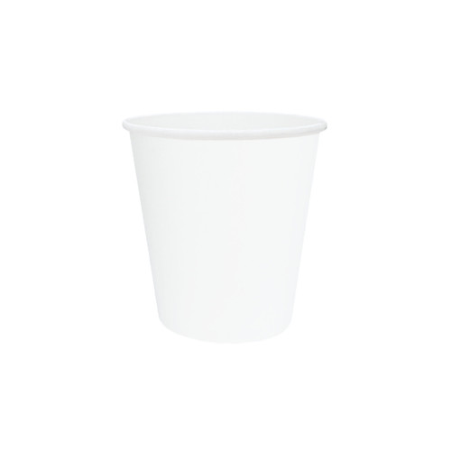 Coffee Cup (PE) - SINGLE Wall - 8oz (SQUAT) WHITE - ONETRAY