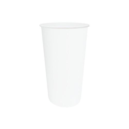 Coffee Cup (PE) - SINGLE Wall - 12oz (SLIM) WHITE - ONETRAY