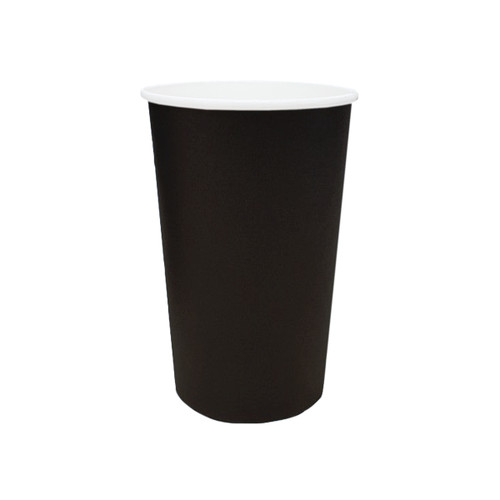 Coffee Cup (PE) - SINGLE Wall - 16oz BLACK - ONETRAY