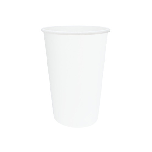 Cup (PE) for Hot & Cold Use - SINGLE Wall - 16oz WHITE - ONETRAY