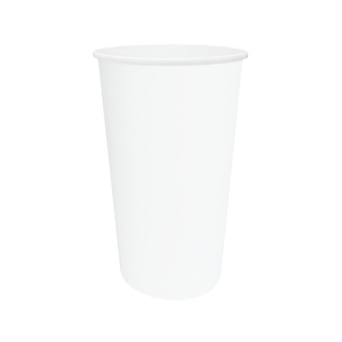 Cup (PE) for Hot & Cold Use - SINGLE Wall - 20oz WHITE - Hot Cold Cups - ONETRAY
