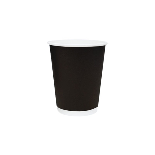 Coffee Cup (PE) - DOUBLE Wall - 8oz BLACK - ONETRAY