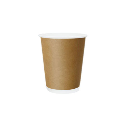Coffee Cup (PE) - DOUBLE Wall - 8oz BROWN - ONETRAY