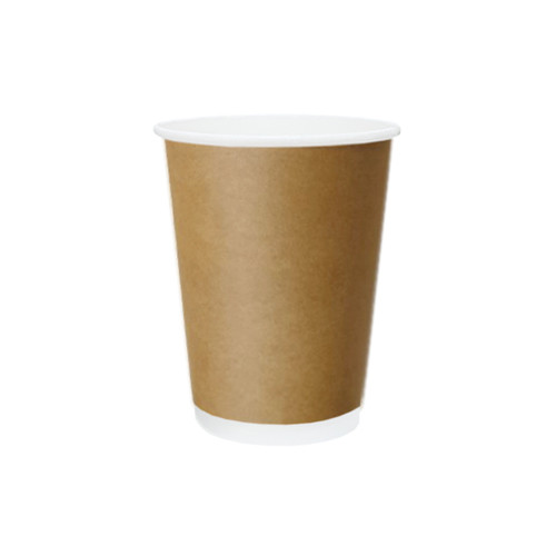 Coffee Cup (PE) - DOUBLE Wall - 12oz BROWN - ONETRAY