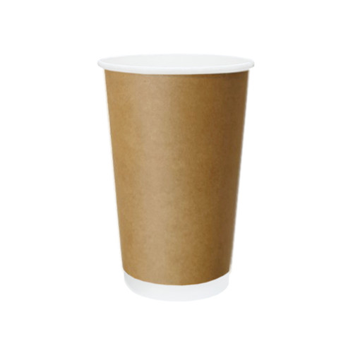 Coffee Cup (PE) - DOUBLE Wall - 16oz BROWN - ONETRAY