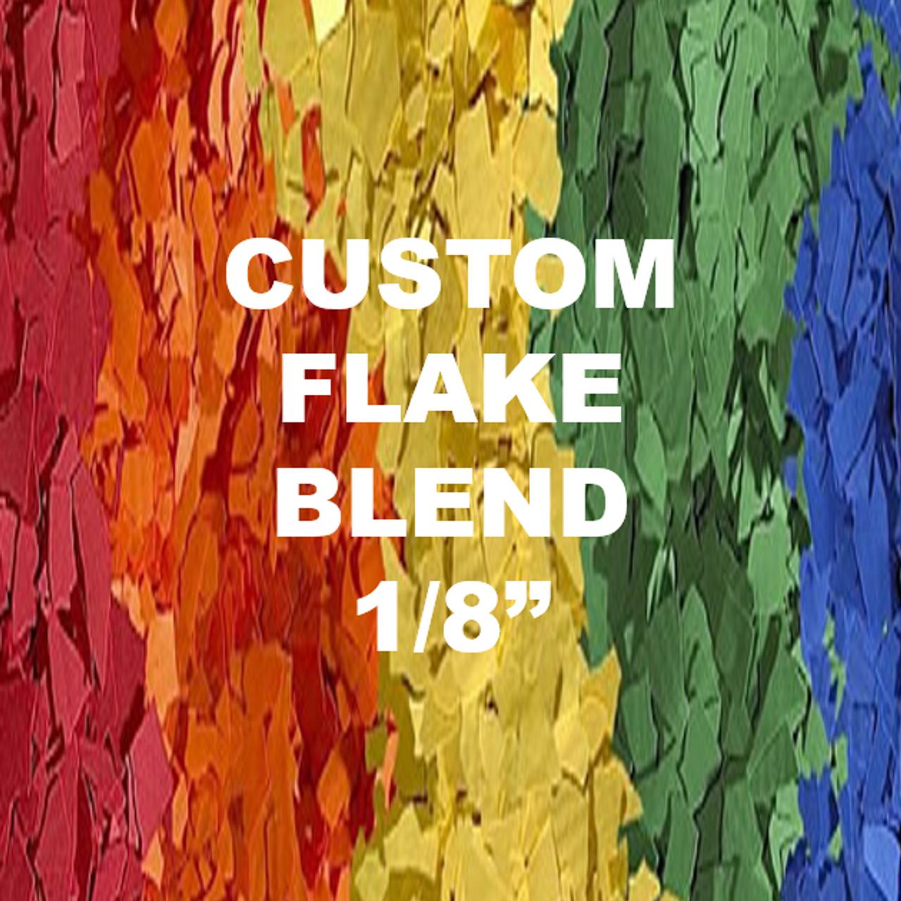 """1/32"""", 1/16"""", or 1/8"""" Custom Blended Flake"""
