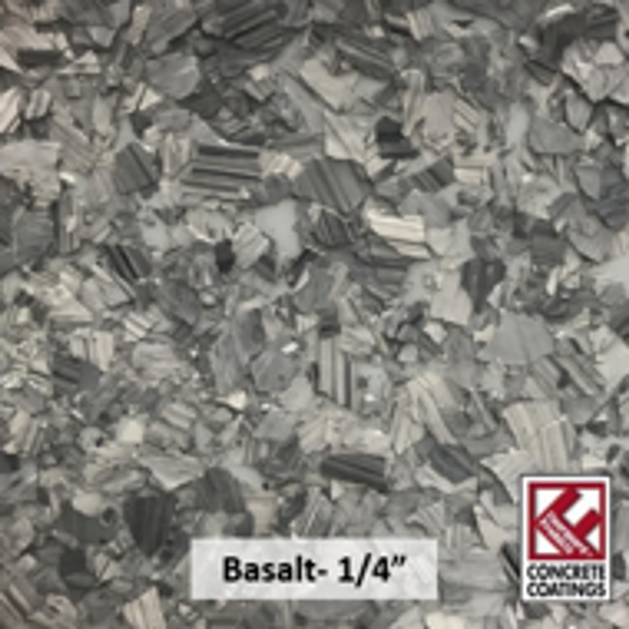 "Basalt- Chipped Stone Flake- 1/4"" (40 lb.)"